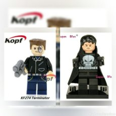 Cine: MINIFIGURAS ACCION TERMINATOR Y THE PUNISHER LEGO COMPATIBLE. Lote 122057287