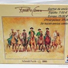 Cine: PUZZLE 1000 PIEZAS SCHMIDT SERIE RENATO CASERO CINE LOS 7 MAGNÍFICOS 1969 - DESCATALOGADO. Lote 56675263