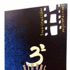 Cine: 3 BIENAL NACIONAL CINE Y VÍDEO CAJALICANTE 1991, HOMENAJE CRUZ DELGADO FOLLETO TROQUELADO. Lote 126956475