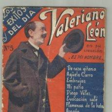 Cine: LOS EXITOS DEL DIA- VALERIANO LEON- DE RAZA GITANA - EMBRUJOS- FLAMENCA DE LA BATA- ED BISTAGNE 30CT. Lote 128604867