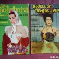 Cine: ARGUMENTO Y CANCIONES; LA VIOLETERA-AQUELLOS TIEMPOS DE CUPLÉ.ED.FHER-1958.. Lote 130861340