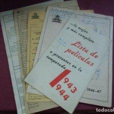 Cine: CIFESA.LISTA DE NOVEDADES PARA VARIAS TEMPORADAS AÑOS 40.VILLENA¿ YECLA.. Lote 130861904