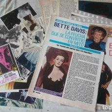 Cine: BETTE DAVIS. AGONÍA, MUERTE Y RESURRECCIÓN: BIOGRAFÍAS, FOTO RECORTES, OBITUARIO... (1988-1990). Lote 131313431