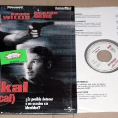 Cine: PELICULA THE JACKAL (CHACAL) - BRUCE WILLIS - RICHARD GERE - FORMATO LASER DISC . Lote 132193422