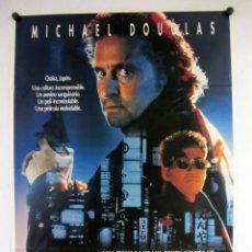 Cine: BLACK RAIN. MICHAEL DOUGLAS, RIDLEY SCOTT. CARTEL ORIGINAL DEL ESTRENO DE LA PELÍCULA 1989. 100X70CM. Lote 132464026