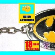 Cine: LLAVERO ORIGINAL BATMAN AÑO 90 - METAL CROMADO Y ESMALTADO - A ESTRENAR. Lote 132999790