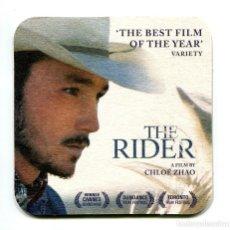 Cine: THE RIDER, POR CHLOÉ ZHAO. POSAVASOS.. Lote 133237322