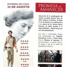 Cine: PROMESA AL AMANECER, CON CHARLOTTE GAINSBOURG. MARCAPÁGINAS.. Lote 133240178