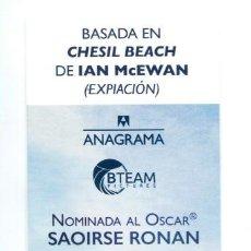 Cinema: EN LA PLAYA DE CHESIL. MARCAPÁGINAS.. Lote 133241158