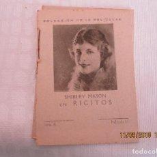 Cine: LIBRITO PROPAGANDA DE FARMACIA LA RICITOS SERIE A PELICULA Nº 12. Lote 133295730