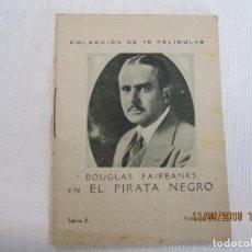 Cine: LIBRITO PROPAGANDA DE FARMACIA EL PIRATA NEGRO SERIE B PELICULA Nº 11. Lote 133296238