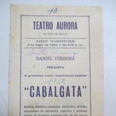 Cine: TEATRO AURORA. CUBA. PROGRAMA DEL ESPECTACULO. CAFE DE PUERTO, NOCHE EN CALATAYUD. VER . Lote 133521126
