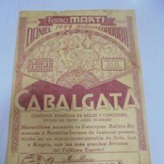 Cine: TEATRO MARTI. CUBA. PROGRAMA DEL ESPECTACULO. RUTAS Y PAISAJES, COPLAS Y CANTARES. VER. Lote 133524670