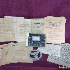 Cine: EXTRAORDINARIO LOTE DE ANTIGUOS OBJETOS Y DOCUMENTOS DE CINE Y ARTES TEATRO, MANUSCRITOS, DESDE 1918. Lote 134328190