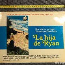 Cine: CINE. LA HIJA DE RYAN. POR DAVID LEAN. CARTELERA (A.1970). Lote 134349925