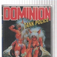 Cine: VHS-ANIME: DOMINION, TANK POLICE : ACTOS 1 Y 2 (MANGA VIDEO). Lote 134358290