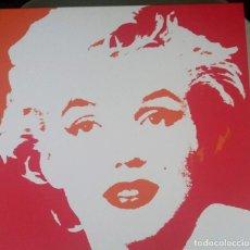 Cine: MARILYN MONROE. CUADRO LIENZO 45 X 45 CM. POP ART.. Lote 134802058