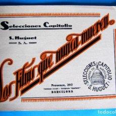 Cine: CATÁLOGO. LOS FILMS QUE NUNCA MUEREN. S. HUGUET, S. A.. SELECCIONES CAPITOL, 1921/24.. Lote 135106482