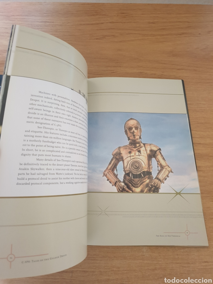 Cine: LIBRO STAR WARS C-3PO TALES OF THE GOLDEN DROID - Chronicle Books, 1999 - Tapa dura, 128 pag - Foto 4 - 135318993