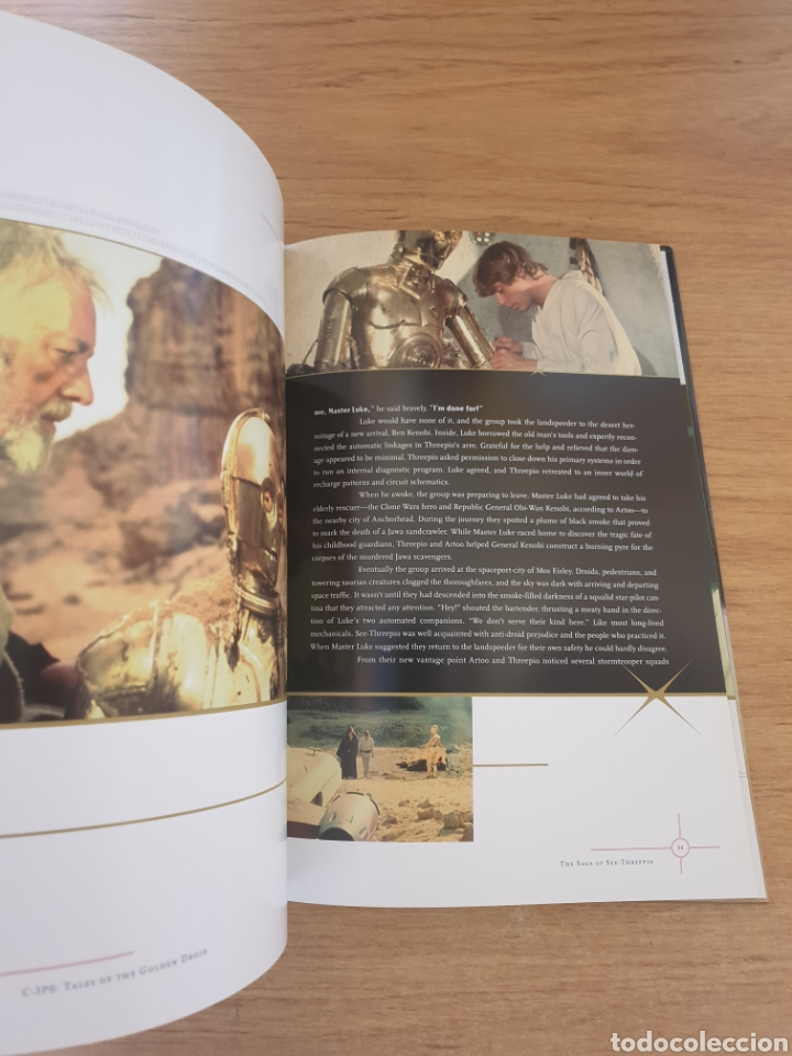 Cine: LIBRO STAR WARS C-3PO TALES OF THE GOLDEN DROID - Chronicle Books, 1999 - Tapa dura, 128 pag - Foto 8 - 135318993