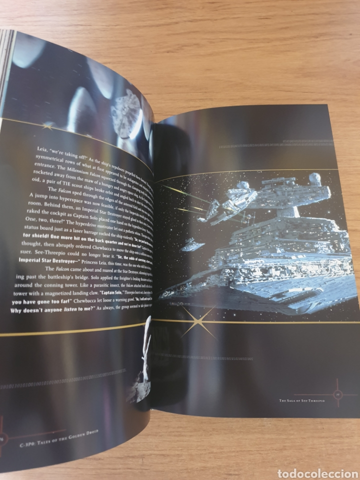 Cine: LIBRO STAR WARS C-3PO TALES OF THE GOLDEN DROID - Chronicle Books, 1999 - Tapa dura, 128 pag - Foto 11 - 135318993