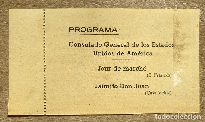 Cine: Ticket invitacion cine club cultural tarragona 1955 - Foto 2 - 135720687