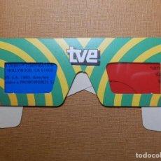 Cine: GAFAS 3D VIDEO - TVE - ESPECIALES PARA VISION DE LA PELICULA TRIDIMENSIONAL TVE AÑO 1983 - ORIGINAL. Lote 138488690