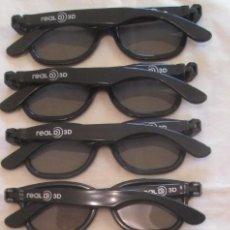 Cine: LOTE DE 8 GAFAS DE VISIÓN CINE 3D; 5 REAL D 3D Y 3 MASTER IMAGE. Lote 138688770