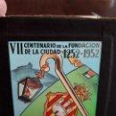 Cine: DIAPOSITIVA ANUNCIO CINE PUBLICIDAD VII CENTENARIO DE LA FUNDACIÓN CIUDAD DE CASTELLÓN 1252-1952. Lote 138832578