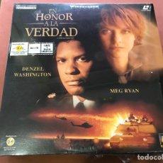 Cine: LASER DISC EN HONOR A LA VERDAD, CON DENZEL WASHINGTON Y MEG RYAN. GUERRA DEL GOLFO. LASERDISC. Lote 138859802