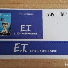 Cine: PEGATINA CINE PELICULA - E.T EL EXTRATERRESTRE - STEVEN SPIELBERG. Lote 138964250