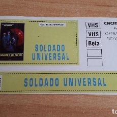 Cine: PEGATINA CINE PELICULA -- SOLDADO UNIVERSAL -- JEAN-CLAUDE VAN DAMME - DOLPH LUNDGREN. Lote 139026486