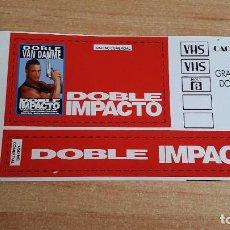 Cine: PEGATINA CINE PELICULA -- DOBLE IMPACTO - JEAN-CLAUDE VAN DAMME. Lote 139027230