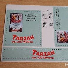 Cine: PEGATINA CINE PELICULA -- TARZAN DE LOS MONOS - JOHNNY WEISSMULLER -- MAUREEN O`SULLIVAN. Lote 139032402