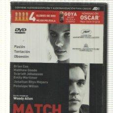 Cine: DVD PELICULA: MATCH POINT. ESCRITO Y DIRIGIDO POR WOODY ALLEN CON BRIAN COX, SCARLETT JOHANSSON,.... Lote 140300240