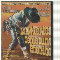 Cine: DVD: LA MUERTE TENIA UN PRECIO. DIRECCION: SERGIO LEONE, MUSICA: ENNIO MORRICONE. CON CLINT EAST.... Lote 140300352