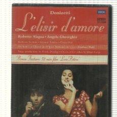 Cine: DVD VIDEO: LELISIR DAMORE. DONIZETTI. CON ROBERTO ALAGNA, ANGELA GHEORGHIU. Lote 140301038