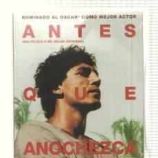 Cine: DVD PELICULA: ANTES QUE ANOCHEZCA. DIRIGIDA POR JUALIAN SCHNABEL CON JAVIER BARDEM, OLIVIER MART.... Lote 140302105