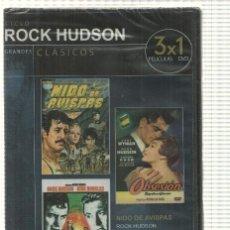 Cine: DVD (3X1 PELICULAS): CICLO ROCK HUDSON. NIDO DE AVISPAS, OBSESION, EL ULTIMO ATARDECER - COLECCI.... Lote 140302324