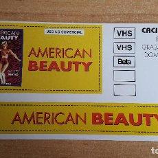 Cine: PEGATINA CINE PELICULA -- AMERICAN BEAUTY -- KEVIN SPACEY. Lote 140598714