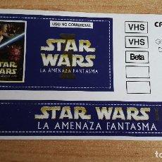 Cine: PEGATINA CINE PELICULA -- STAR WARS -- LA AMENAZA FANTASMA . Lote 140599086