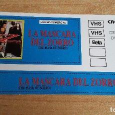 Cine: PEGATINA CINE PELICULA -- LA MASCARA DEL ZORRO - THE MASK OF ZORRO - ANTONIO BANDERAS - ANTHONY HOPK. Lote 140599906
