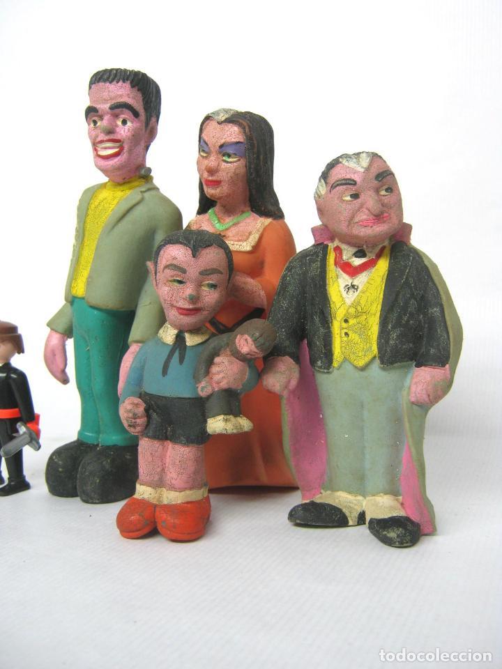 Cine: lote 4 figuras de goma vintage - La Familia Monster- Serie americana The Munsters (1964) - Foto 2 - 150160554