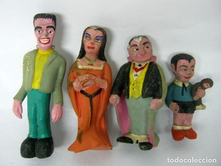 Cine: lote 4 figuras de goma vintage - La Familia Monster- Serie americana The Munsters (1964) - Foto 3 - 150160554
