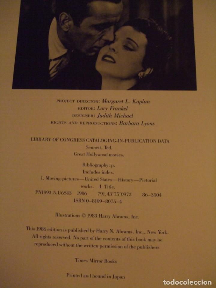 Cine: LIBRO GRAN FORMATO 1983 Great Hollywood Movies Ted Published by Abradale/Abrams - Foto 14 - 141739746