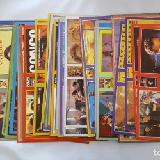 Cine: LOTE DE 200 CARATULAS DE CINE VHS + ETIQUETAS PARA LAS CINTAS. Lote 142704274