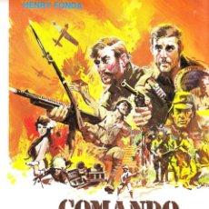 Cine: MINI POSTER COMANDO EN EL MAR DE LA CHINA (32X22). Lote 143487414