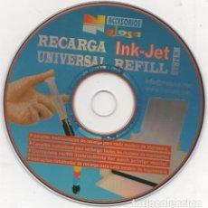 Cine: CD-ROM 2002 GUÍA DIDÁCTICA PARA RECARGA TINTA IMPRESORAS INK-JET UNIVERSAL . PUBLICIDAD. Lote 143499470