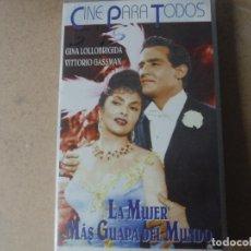 Cine: VIDEO LA MUJER MAS GUAPAS DEL MUNDO CINE PARA TODOS. Lote 143582594