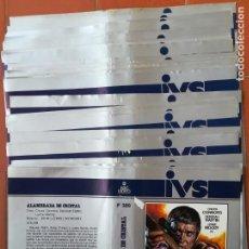 Cine: 47 CARÁTULAS PELÍCULAS VÍDEO IVS BETA Y VHS VARIOS TÍTULOS. Lote 145100802